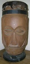 AFRICAN CARVED DRUM...40CM