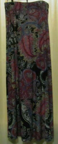 bobbi brooks SIZE L Multi-color maxi skirt