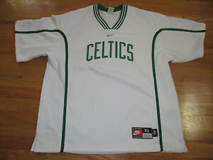 the best attitude 25413 8dae4 Details about Nike BOSTON CELTICS Warm-Up (XL) V-Neck Jersey WHITE