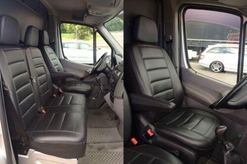 Sitzbezüge cuir synthétique rouge couture convient pour NISSAN Primastar Traffic Vivaro Opel