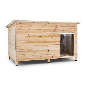Caseta para Perro de Jardín 120x90x90cm Tamaño L Aislada Paredes 4,5cm Exterior
