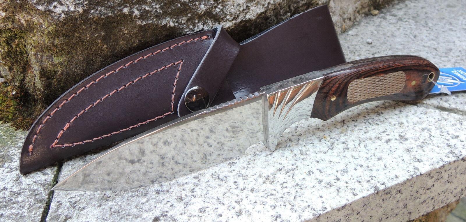 Albainox POLISHED HUNTER II Messer Jagdmesser Polierter Stahl Staminaholz 32272  | Tadellos