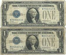 1928 $1 Silver Certificate Currency Lot of 2 Lot 168