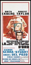 LA SFINGE D'ORO LOCANDINA CINEMA FILM ROBERT TAYLOR ANITA EKBERG PLAYBILL POSTER