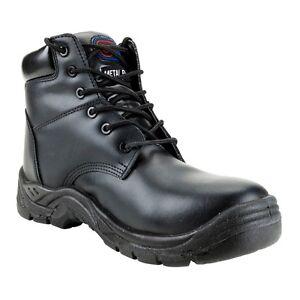 Le Prix Le Moins Cher Size Uk 8 Euro 42 Supertouch Toe Lite Black Leather Safety Work Boots Toe Cap