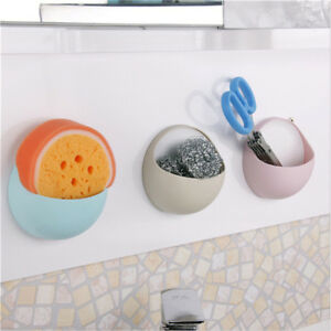 Kitchen-Storage-Suction-Cup-Sink-Shelf-Soap-Sponge-Drain-Rack-Bathroom-Holder-KI