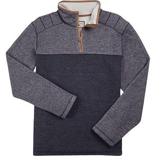 Dakota Grizzly Mens Paine Quarter Zip Sweater Gray Medium Large XL 2XL NEW BOBR