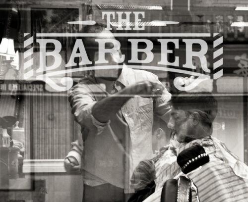 Mens Barber Barbershop Hair Window Sign Decal Graphic