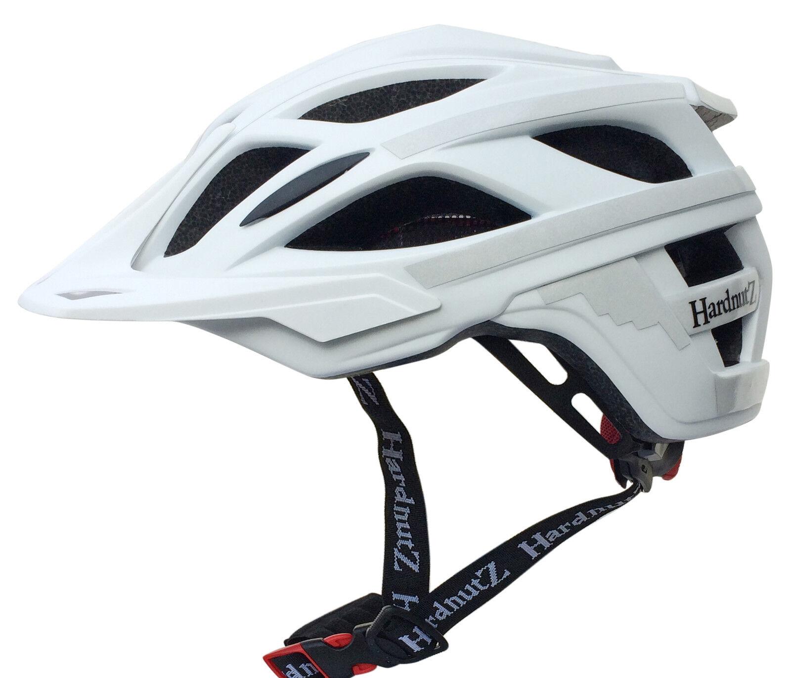 HardnutZ Mountain Bike Helmet MTB Head Predection Hi Vis 3M White Helmet