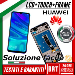 LCD-DISPLAY-TOUCH-SCREEN-ORIGINALE-HUAWEI-P-SMART-2019-POT-LX1-LX2-NERO-FRAME