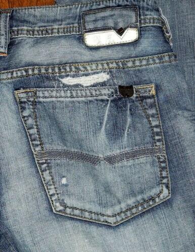 Taille Authentique Sz Moyenne Bleu Standard Homme Buffalo Coupe Droite Jeans ZtCRqpwt