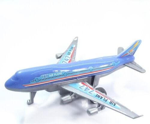 Plastic Air Bus Model Kids Children Pull Back Airliner Passenger Plane Toys SG