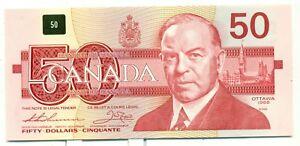 Canada-50-1988-BC-59aA-Choice-Unc-EHX1068301-Thiessen-Crow