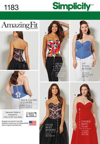 Simplicity Sewing Pattern Women Corset//Underwear incl Autumn 18
