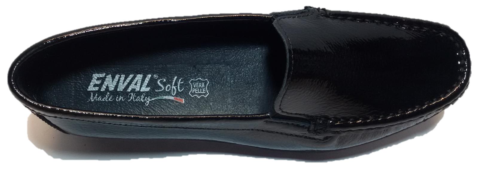 ENVAL SOFT Schuhe Damens MOCASSINI IN VERNICE NERO - - NERO 89505 c31f21