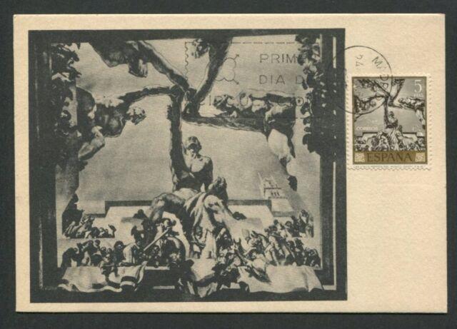 SPAIN MK 1966 GEMÄLDE SERT PAINTING ART MAXIMUMKARTE MAXIMUM CARD MC CM d8184