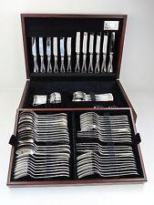 In Scatola Argento OLD ENGLISH Thread mensa di posate 84 pezzi Set di servizio 8 persone