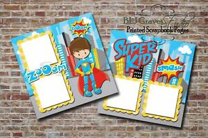 SUPERMAN-MARVEL-DISNEY-BOY-2-PRINTED-Premade-Scrapbook-Pages-BLJgraves-40