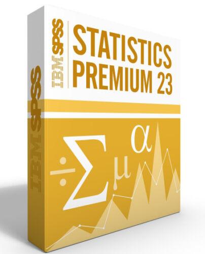 12 month license SPSS Statistics Grad Pack 23.0 PREMIUM-Windows or Mac