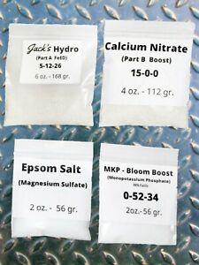 14oz kit Jacks 321 Hydroponic Nutrient fertilizer Coco DWC MKP Bloom Booster