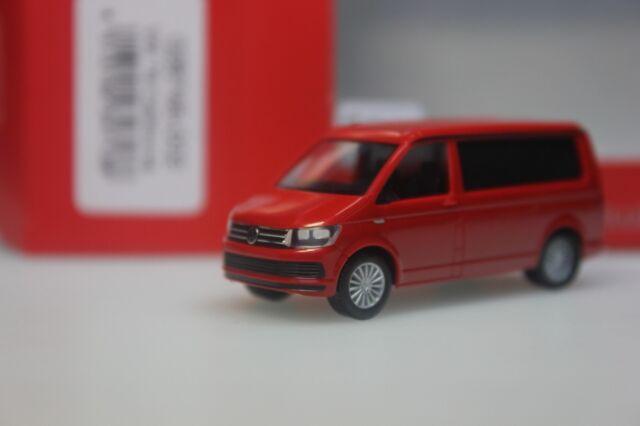 Herpa 028745-002 1//87 VW t6 California-kirschrot-NUOVO