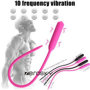 10-Frequency-Silicone-Urethral-Sounds-Penis-Urethral-Plug-Stretcher-Dilator-MALE