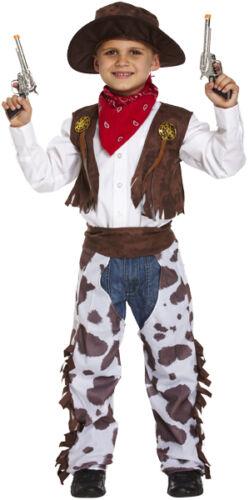 Boys KidZ Cowboy Outfit Fancy Dress Costume Children Party Wild West//Banana lot
