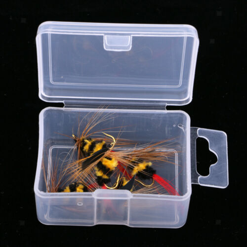 MagiDeal 5Pcs Black and Yellow Foam Bee Nymph Trout Flies Fly Fishing Lures