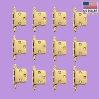 12 Cabinet Hinges Semi-concealed Solid Brass 1.75 W   Renovator's Supply on Sale
