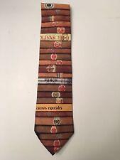 Vintage RALPH MARLIN Cigars Neck Tie Polyester Corona Especiales Punch Bolivar