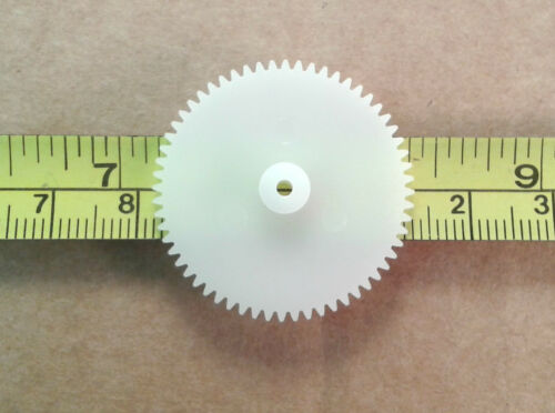 60 Tooth 31mm Plastic Gear Cog Wheels for 2mm Model Gearbox Shafting Qty 5
