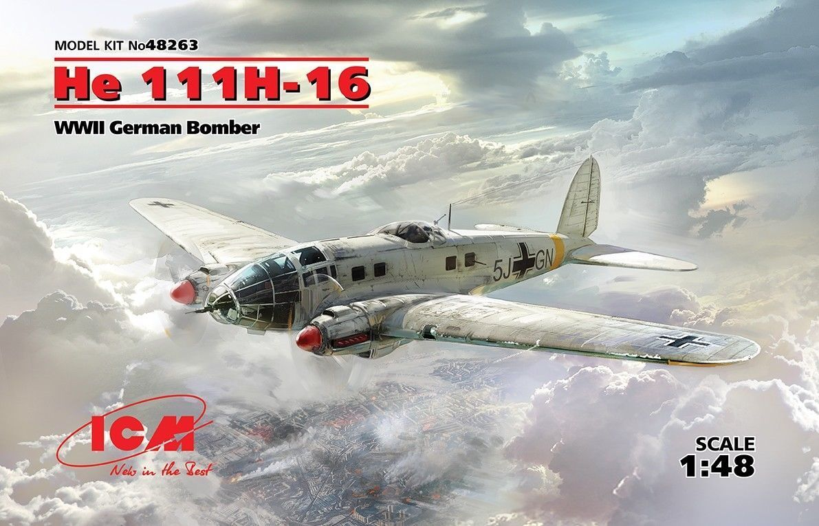 mejor opcion Icm Heinkel Él 111H-16 II Guerra Guerra Guerra Mundial Alemania Bombero Lona 1 48 Kit  más descuento