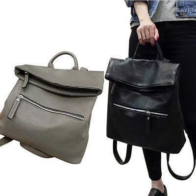 Women Girl PU Leather School Bags Backpack Shoulder Bag Travel Rucksack