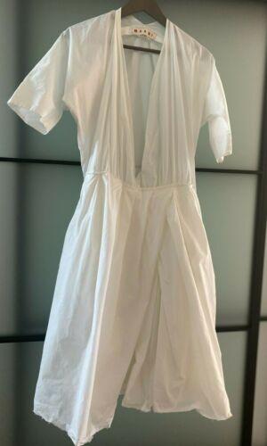MARNI Designer White Cotton Dress