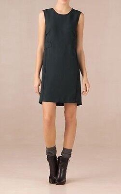 DEEP GREEN SHIFT DRESS WAIST Detail SMALL 6//8 UK Zara Group NEW MASSIMO DUTTI