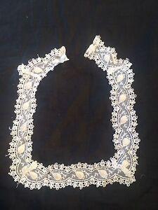 Antique Vintage Col En Dentelle Vintage Costume Couture Accessoire-afficher Le Titre D'origine