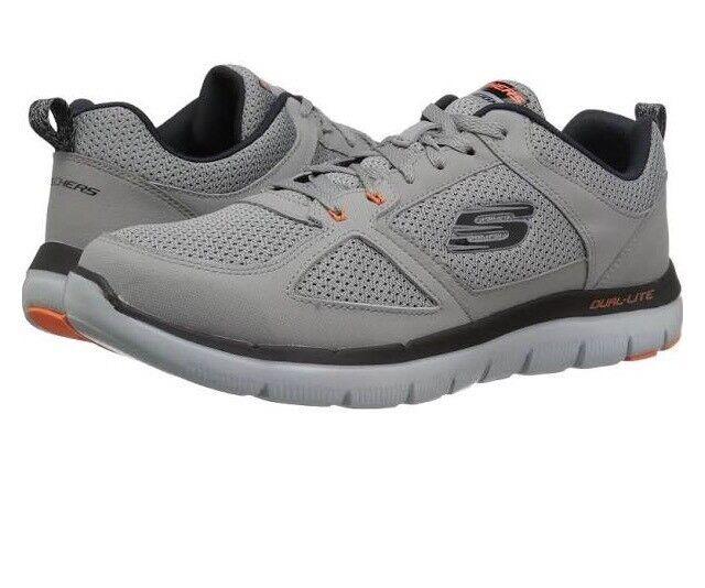 Skechers Mens 52180/lgor Sport Flex Advantage 2.0 Light Gray/orange Comfortable Seasonal clearance sale