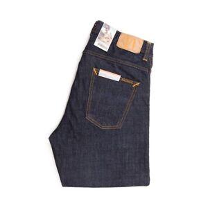 Nudie-Jeans-Sleepy-Sixten-Rinsed-Dunkelblau-Relaxed-Straight-112899-Neu