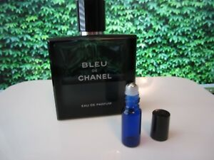 c4b3dff59be Bleu De Chanel Le Parfum EDP Perfume MEN Fragrance TRAVEL Size Glass ...