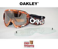 OAKLEY® O-FRAME® GOGGLES MX ATV MOTOCROSS MOTORCYCLE DIRT SPLATTER ORANGE MIRROR