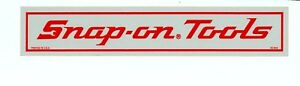 NEW-Vintage-Snap-on-Tools-Old-Logo-Reflective-10x2-Tool-Box-Sticker-Decal-DC64A