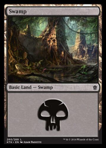 4x Swamp MTG Khans of Tarkir NM Magic Regular 260
