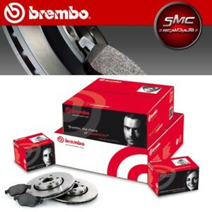 BREMBO-Bremsenset-2-Bremsscheiben-4-Bremsbelaege-VW-Golf-V-1K1-253-mm-HINTEN-VOLL