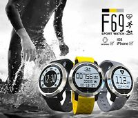 Waterproof Activity Tracker Heart Rate Monitor Pedometer Fitness Bluetooth Watch