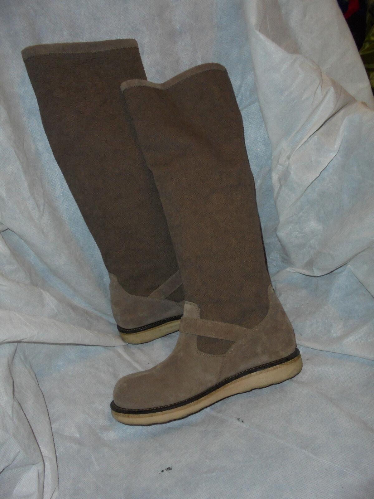 Twin-Set para Mujer Textil/gamuza Marrón Claro Knee High Boot Size en muy buena condición