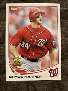 2013 Topps #1 Bryce Harper Rookie  Washington Nationals -Nice Card -Possible 10!