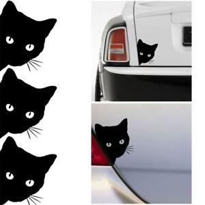 Cat-Face-Peering-Funny-Car-Decal-Auto-Truck-Window-Bumper-Laptop-Sticker-Black