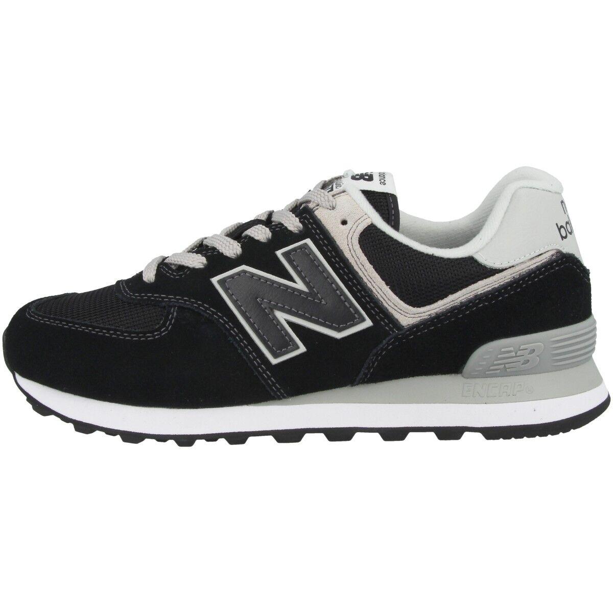 New balance WL 574 eb Women zapatos señora casual zapatillas Black White wl574eb
