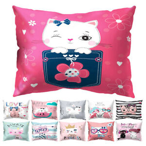 Am-KF-1Pc-Soft-Cute-Cartoon-Cat-Printed-Pattern-Throw-Pillow-Case-Home-Decor-C