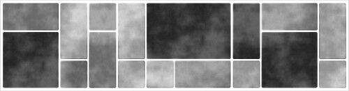 Fliesenaufkleber Fliesenbordüre Bordüre Mosaik Grau Kachel Aufkleber FB5